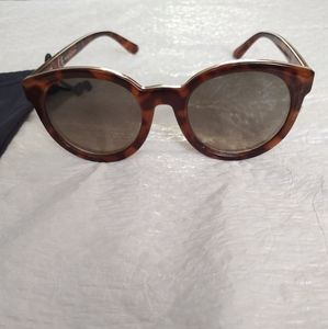 J.Crew Brown And Tan Leopard Print With Gold Trim